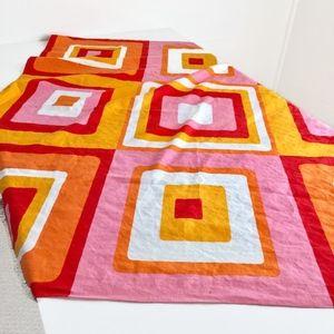 Retro Mod Fabric Vintage Tablecloth Geometric